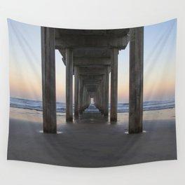 Scripps Pier at Sunrise (Digital) Wall Tapestry