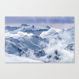 Snowy Mountains and Glaciers Canvas Print