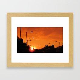 highlighter orange sky Framed Art Print