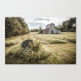 Fields Where We Play - Barn Photography Canvas Print