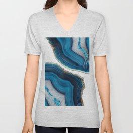 Blue Agate Unisex V-Neck