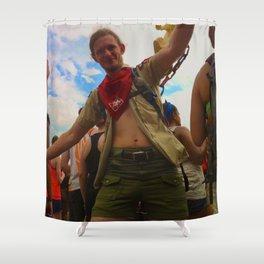 Bonnaroovian Dancing Man Shower Curtain