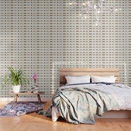 Modern white faux gold sequins geometrical dots stripes Wallpaper