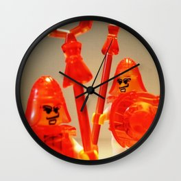 Ching Dynasty Chinese Warrior Custom LEGO Minifigure with Trans Orange Armour by Chillee Wilson Wall Clock