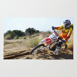 Motocross Passion extreme sport Rug