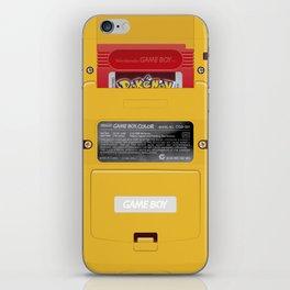 Nintendo Game Boy Color Yellow (Pokémon Red) iPhone Skin