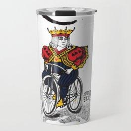 Queen of Cincinnati Bike Print Travel Mug