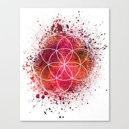 Seed of Life Sacred Geometry Canvas Print