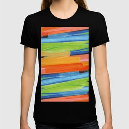 Color yellow red blue green T-shirt