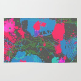 Abstract Urban Painting - Neon Street Art Rug