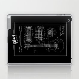 Gibson Les Paul Guitar Patent Drawing 1955 - Blueprint - Music Laptop & iPad Skin