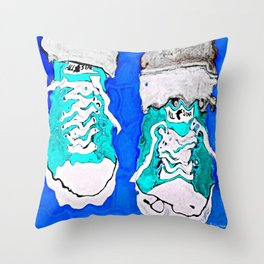 MELTING SNEAKERS Throw Pillow