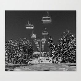 Chair Lift Off Canvas Print