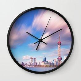 Shangai sky Wall Clock