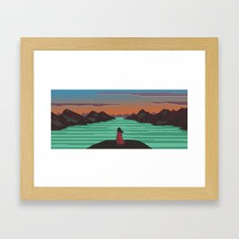 Fjords and mountains. Framed Art Print
