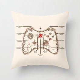 Controller Map Throw Pillow