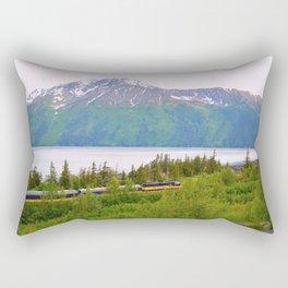 Alaska Passenger Train - Bird Point Rectangular Pillow
