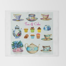 Tea & Cake Throw Blanket