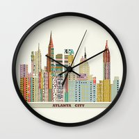 atlanta Wall Clocks featuring Atlanta by bri.buckley