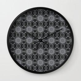 Sharkskin Floral Abstract Wall Clock