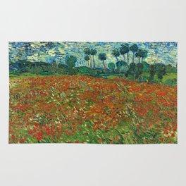 Vincent Van Gogh Poppy Field Rug