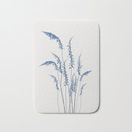 Blue flowers 2 Bath Mat