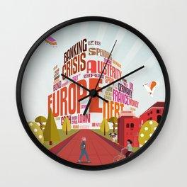 Typography Mall Wall Clock