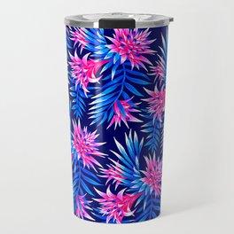 Aechmea Fasciata - Mid Blue/Pink Travel Mug