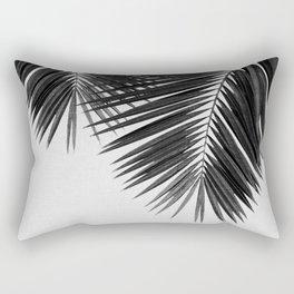 Palm Leaf Black & White II Rectangular Pillow