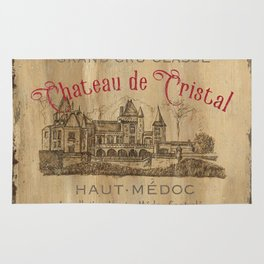 Barrel Wine Label 1 Rug