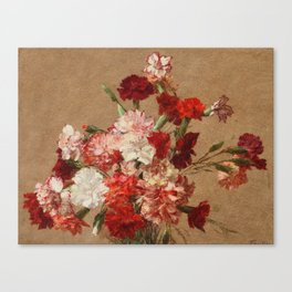 Henri Fantin Latour - Carnations Without Vase Canvas Print