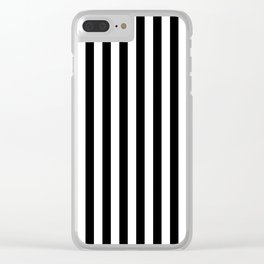 Parisian Black & White Stripes (vertical) Clear iPhone Case