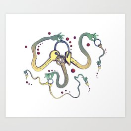 Handsy Keys by Maisie Cross Art Print