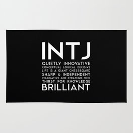 INTJ (black version) Rug