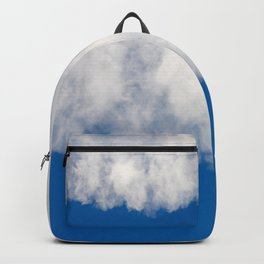 Cotton candy in blue Backpack