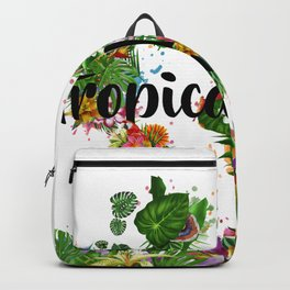 world map tropical vibes 2 Backpack