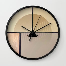 Toned Down - Small Triangle Wall Clock