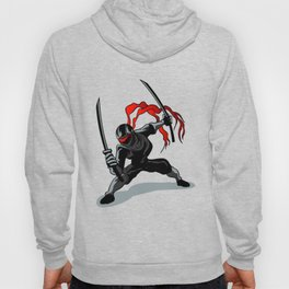cartoon ninja in action Hoody