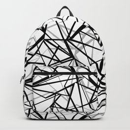 Black and white abstract geometric pattern . Backpack