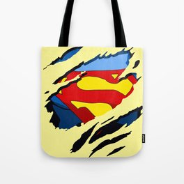 superhero torn - SuperMan Tote Bag