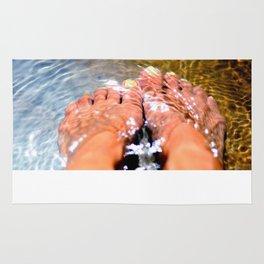 self portrait with feet Rug
