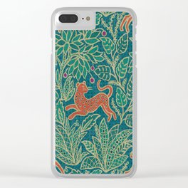 Jungle Fawn and Cat Clear iPhone Case