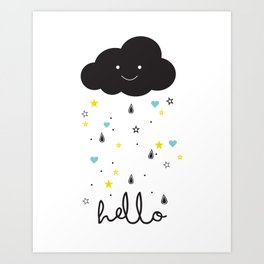 Hello Cloud Art Print