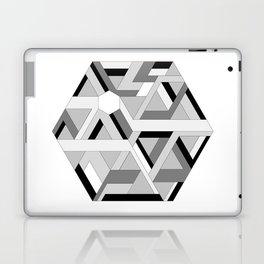 Hexagon monochrome Laptop & iPad Skin