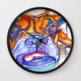 Boxer Blues (Lucille) Wall Clock