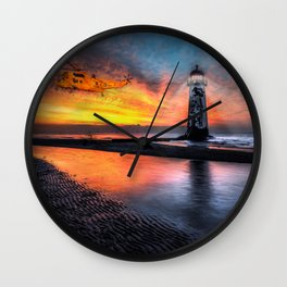 Lighthouse Rescue Wall Clock