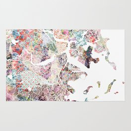 Boston map Rug
