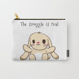 The Snuggle is Real Bunny Carry-All Pouch