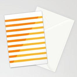 Beach Stripes Orange Yellow Stationery Cards