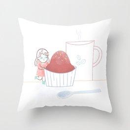 Breakfast time Throw Pillow